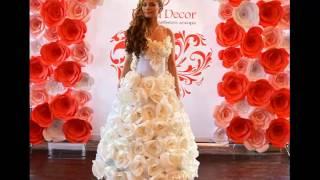 видео креативные свадебные платья