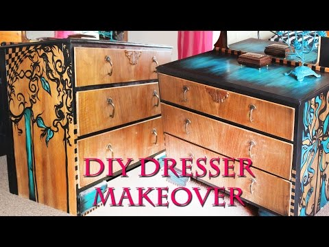 HAND-PAINTED FURNITURE MAKEOVER | Emy Meowski