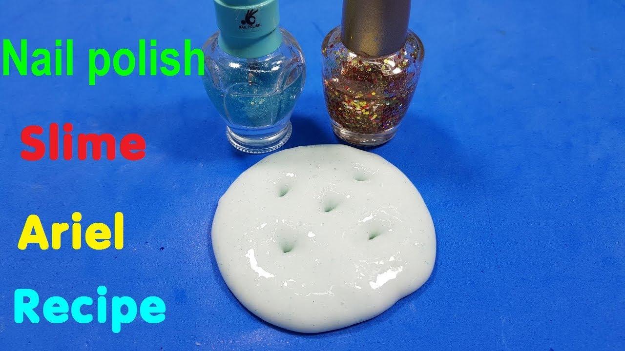 diy nail polish slime ariel recipe