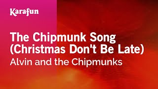 Karaoke The Chipmunk Song (Christmas Don