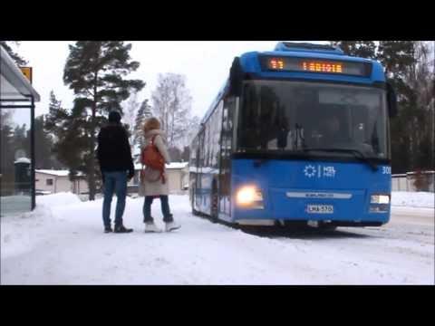 EBUSCO YTP1.  Daily Operation @ Helsinki (Espoo) Finland