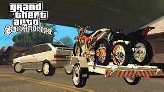 GOL GTI com Carretinha de Motos - GTA San Andreas