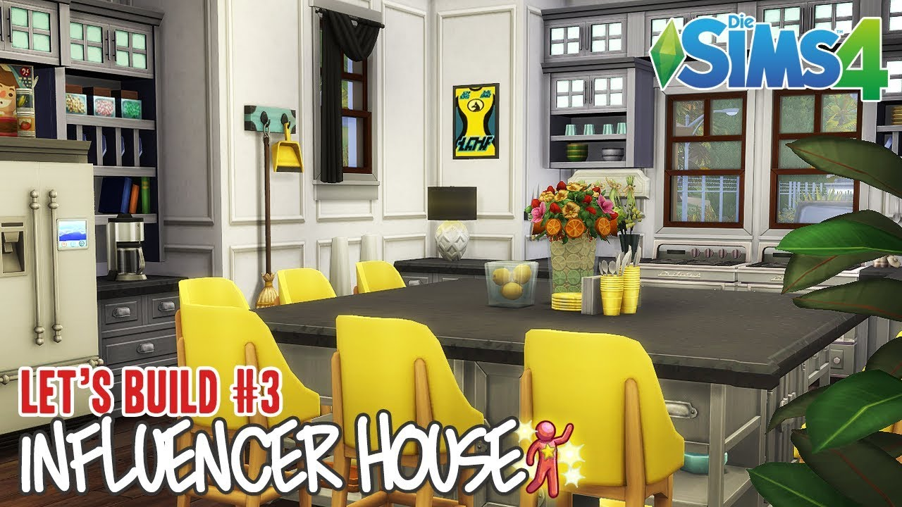 Die Sims 4 ⭐INFLUENCER HOUSE⭐ Let\'s Build #3 - Die WG Küche - YouTube