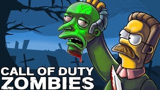 funny simpsons zombie survival call of duty zombies mod