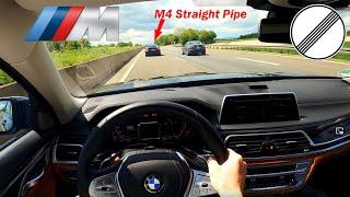 BMW 750d xDrive 400ps и 760 Нм против прямой трубы BMW M4 | Обзор автомобиля|TOP...