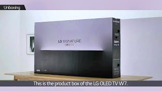 Unboxing and Installation of LG SIGNATURE OLED 65W7 TV