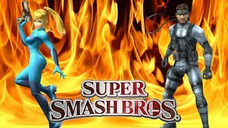 Super CPU Smash   Zero Suit Samus Vs Snake