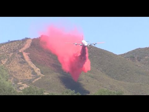 "California battles fires with ""fire plane"""