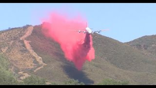 California battles fires with 'fire plane'