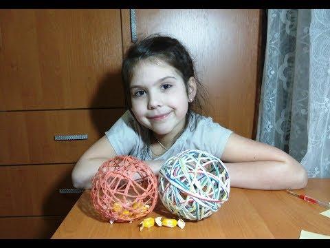 DIY! Шар из ниток - игрушка сувенир своими руками! Handmade Ball Of Threads - Toy Souvenir