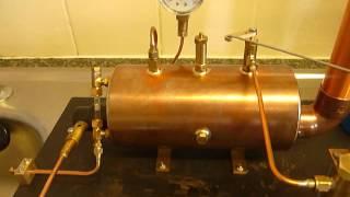 New Boiler Build With Clevedon Steam Firetube Burner