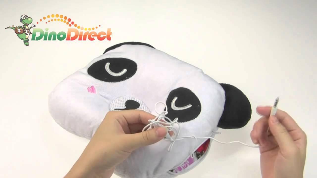 Panda style sound light mp3 music player speaker pillow for Music speaker pillow