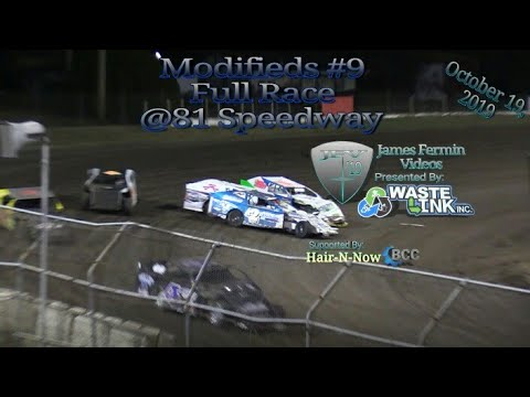 Modifieds #9, Full Race, 81 Speedway, 10/19/19