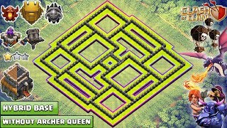 NEW Town Hall 9 Base without Archer Queen 2018! TH8.75 HYBRID BASE!! - CLASH OF CLANS(COC)