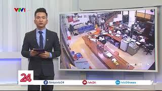 Video tên cướp nổ súng bắn bảo vệ, cướp ngân hàng Agribank | VTV24