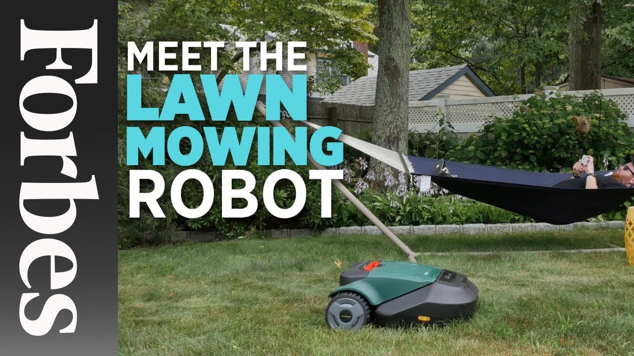 meet the lawn mowing robot | forbes