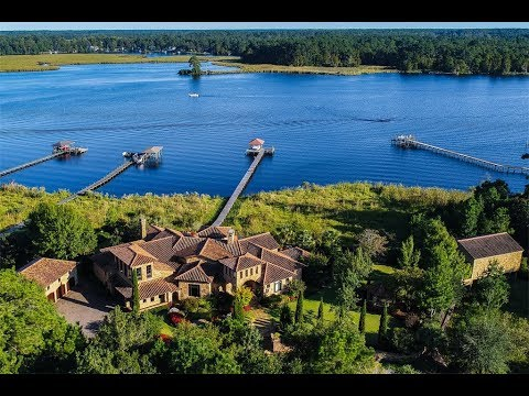 Custom Designed Tuscan Estate in New Bern, North Carolina