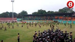 Kericuhan Suporter pada Laga Persita Tangerang vs PSMS Medan, Bogor, Rabu (11/10/2017)