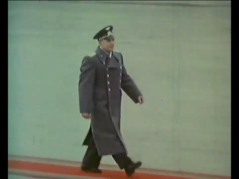 Yuri Gagarin parade after back from space