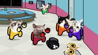 Among Us distraction dance animation Cats version #1