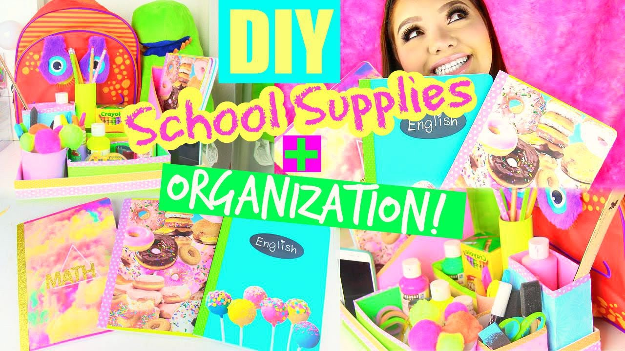 diy school supplies   organization