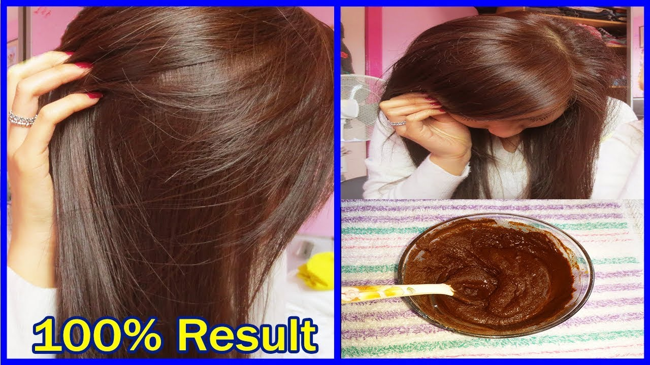 How to Get Natural Brown Hair in 2 Hours  Brown Hair Color Dye  AHWB  YouTube