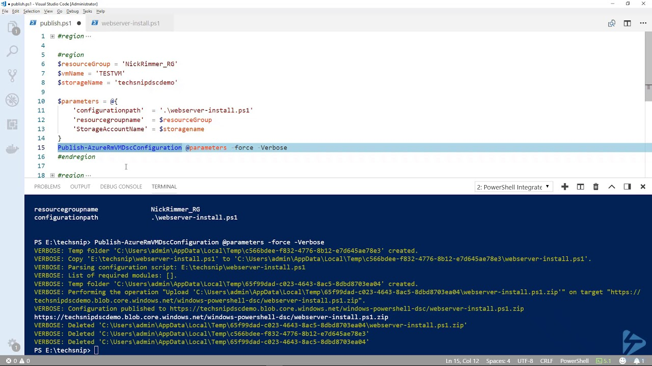 How To Apply A DSC Configuration To An Azure VM Using The Azure DSC  Extension For Windows
