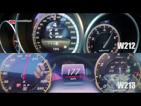 0 - 250 KM/H: new Mercedes-AMG E63 S vs old E63 AMG