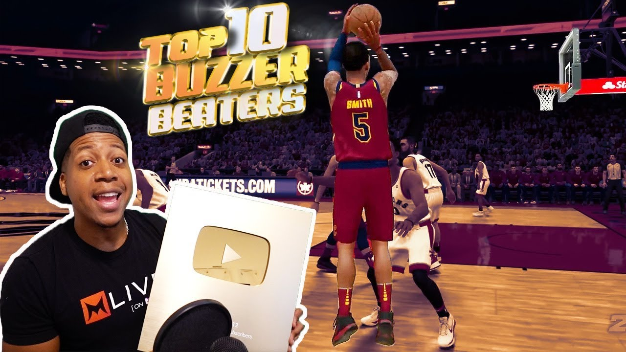 TOP 10 Ridiculous BUZZER Beaters / 1 Million Subs Reward   NBA 2K18