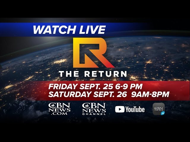 WATCH LIVE: The Return - National and Global Day of Prayer and Repentance   Saturday, Sept. 26, 2020