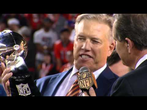John Elway Dedicates Super Bowl 50 Win to Pat  Bowlen | Panthers vs. Broncos | NFL