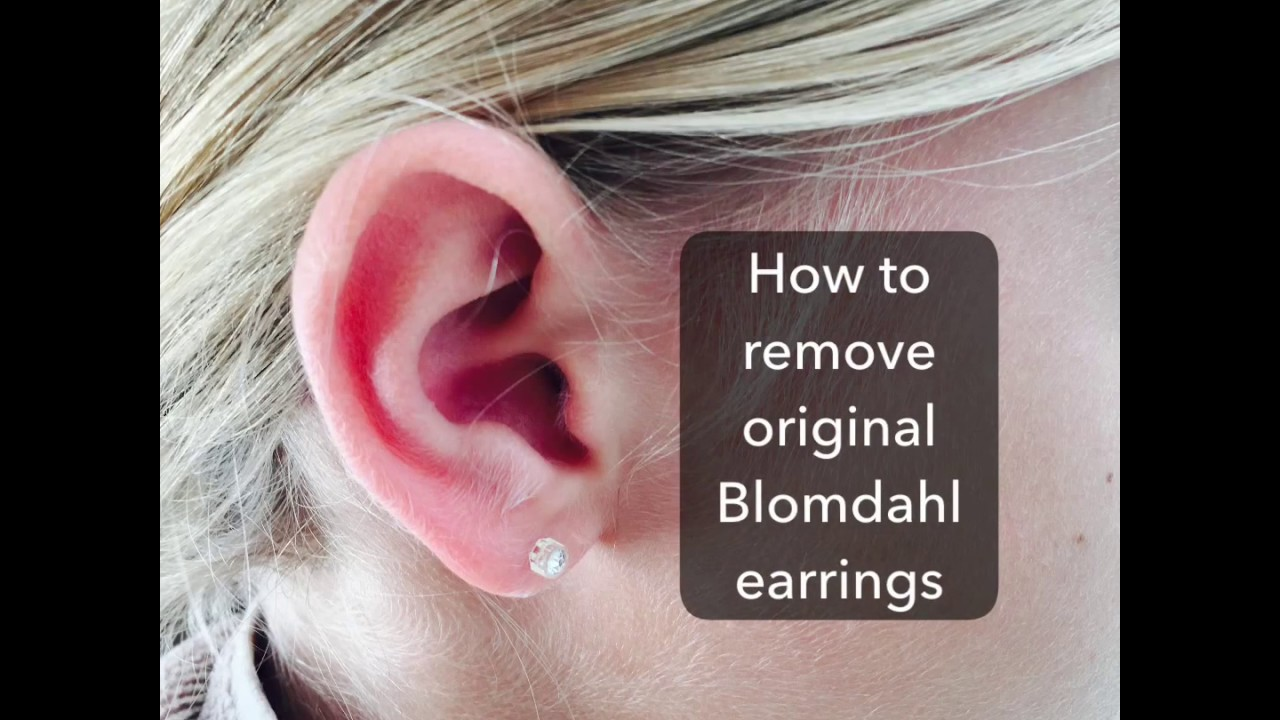 How to remove earrings