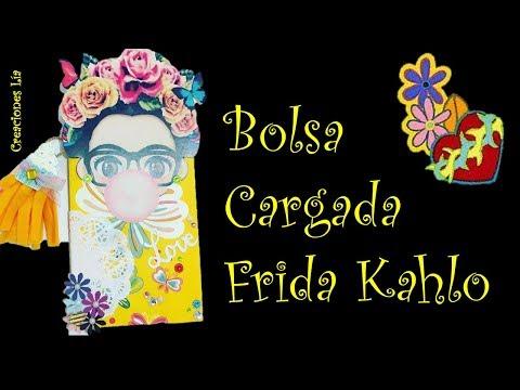 ❁♡ Bolsa Cargada ¨ Frida Kahlo ¨ ♡❁