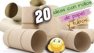 20 Manualidades con ROLLO DE PAPEL HIGIENICO Y TUBOS DE CARTON. Contestando PREGUNTAS FRECUENTES.