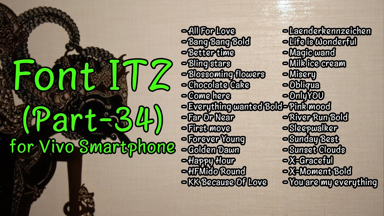 Font Vivo ITZ (Part-34)