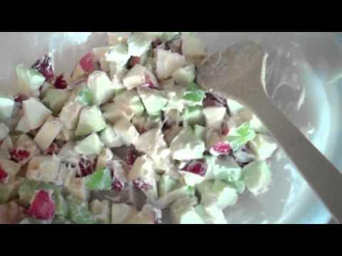 Easy APPLE Waldorf Salad YUMMY!