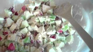 Easy Apple Waldorf Salad Yummy!