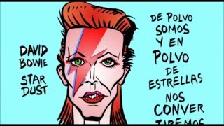 david bowie stardust die Karikatur von de soto-video-cartoon-Karton