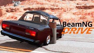 ЗАНЕСЛО В БЕТОННЫЙ СТОЛБ - BeamNG.drive