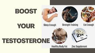 How to increase testosterone in males