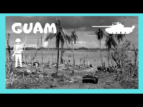 GUAM, the WW2 AMERICAN INVASION in July 1944 at Agat Beach (Pacific Ocean)