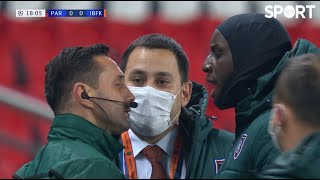 LISTEN TO ME Demba Ba furious in Paris after an incident during the game