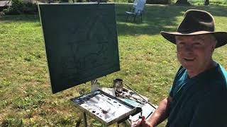 Plein air, North Star- The Drawing/design stage-   Aug 2020
