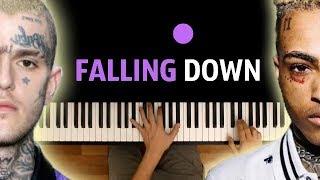Lil Peep & XXXTENTACION - Falling down ● караоке   PIANO_KARAOKE ● ᴴᴰ + НОТЫ & MIDI