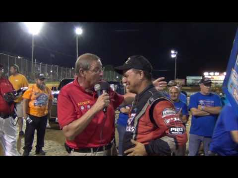 Lincoln Speedway 410 Sprint Car Victory Lane 6-25-16