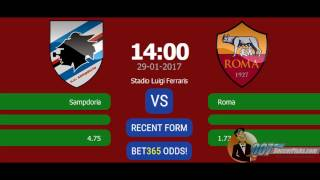 Sampdoria vs AS Roma PREDICTION (by 007Soccerpicks.com)