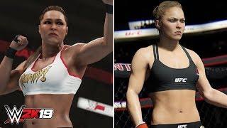 WWE 2K19 - Ronda Rousey Gameplay Screenshot & WWE 2K19 vs UFC Comparisons! (WWE 2K19 News)