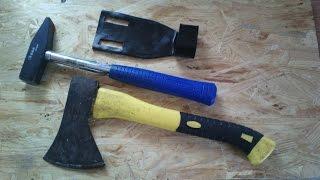 Держатель для молотка и топора из пластиковой трубы своими руками за 20 минут