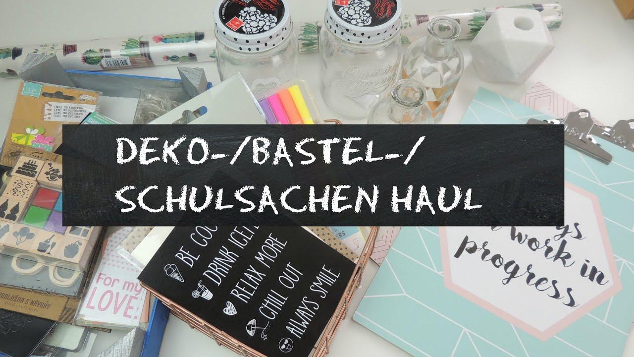 Deko Bastel Schulsachen Haul I Action Xenos Blokker Hema