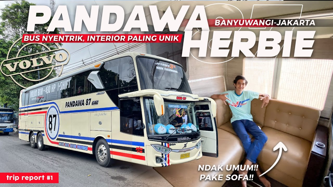 [ INTERIOR BUS AKAP PALING UNIK DAN MEWAH !! ] LIVERY NYENTRIK, HERBIE ! - Trip Report Pandawa 87
